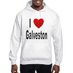 I Love Galveston (Front) Hooded Sweatshirt