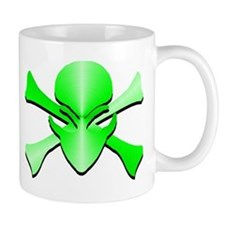 Metal Skull N Crossbones Green Mug
