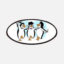 Graduation Dancing Penguins Patches