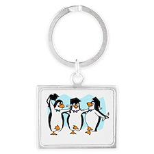 Graduation Dancing Penguins Keychains
