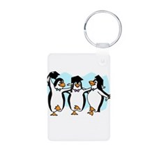 Graduation Dancing Penguins Keychains