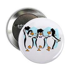 """Graduation Dancing Penguins 2.25"""" Button"""