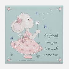 Mouse Wishing on Dandelion Friendship Gift Coaster