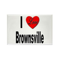 I Love Brownsville Rectangle Magnet (10 pack)