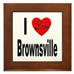 I Love Brownsville Framed Tile