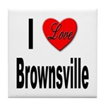 I Love Brownsville Tile Coaster