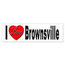 I Love Brownsville Bumper Bumper Sticker