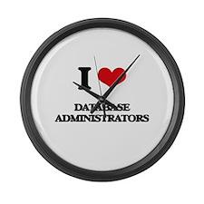 I love Database Administrators Large Wall Clock