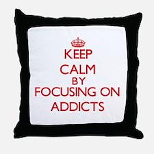 Addicts Throw Pillow