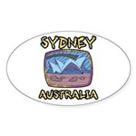 Sydney Australia Oval Sticker