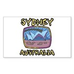 Sydney Australia Rectangle Sticker