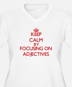 Adjectives Plus Size T-Shirt