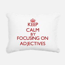 Adjectives Rectangular Canvas Pillow