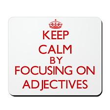 Adjectives Mousepad