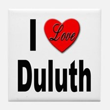 I Love Duluth Tile Coaster