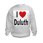I Love Duluth (Front) Kids Sweatshirt