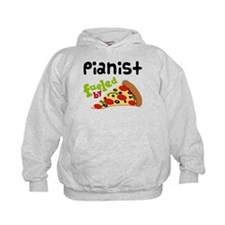 Pianist Fueled By Pizza Hoodie