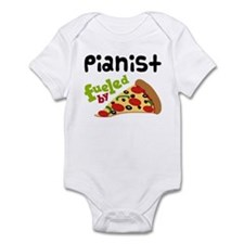 Pianist Fueled By Pizza Infant Bodysuit