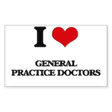 I love General Practice Doctors Decal