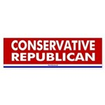 Conservative Republican Bumper Sticker