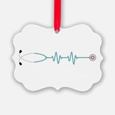 Stethescope Heart Rate Monitor Ornament