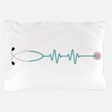 Stethescope Heart Rate Monitor Pillow Case