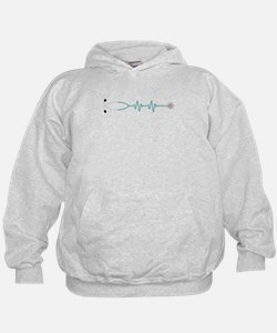 Stethescope Heart Rate Monitor Hoodie