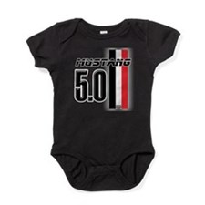 mustang5.0BWR.png Baby Bodysuit