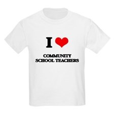 I love Community School Teachers T-Shirt