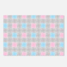 Checkered Plaid Postcards (Package of 8)