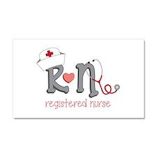 Registered Nurse Car Magnet 20 x 12