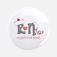 "Registered Nurse 3.5"" Button"