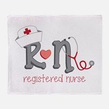 Registered Nurse Throw Blanket