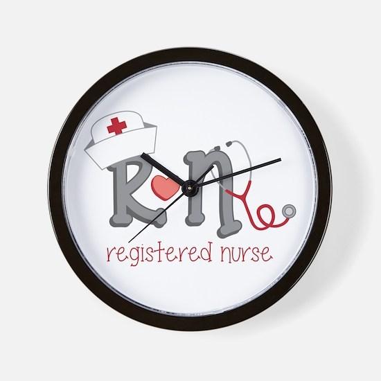 Registered Nurse Wall Clock