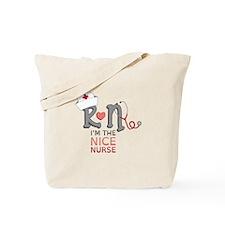 I'm The Nice Nurse Tote Bag