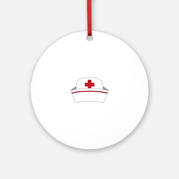 Nurse Hat Ornament (Round)