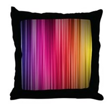 rainbow road Throw Pillow