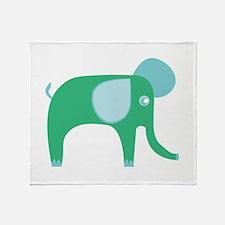 Green Pachyderm Throw Blanket