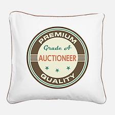 Auctioneer Vintage Square Canvas Pillow