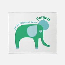 Jumbo Never Forgets Throw Blanket
