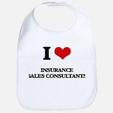 I love Insurance Sales Consultants Bib
