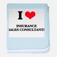 I love Insurance Sales Consultants baby blanket