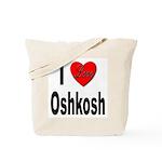 I Love Oshkosh Tote Bag