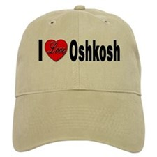 I Love Oshkosh Baseball Cap