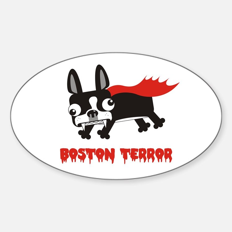 Boston Terror Oval Decal