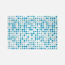 Blue Dots Rectangle Magnet
