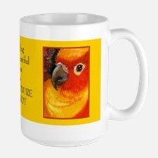 Sunny Conure Parrot Large Mug