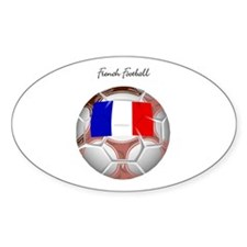French Football Soccer Oval Decal