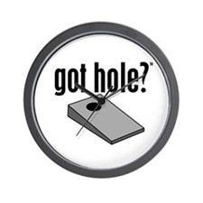 Cornhole: Got Hole? Wall Clock