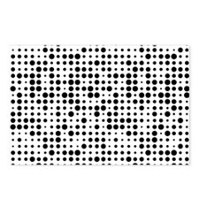Black Dots Postcards (Package of 8)